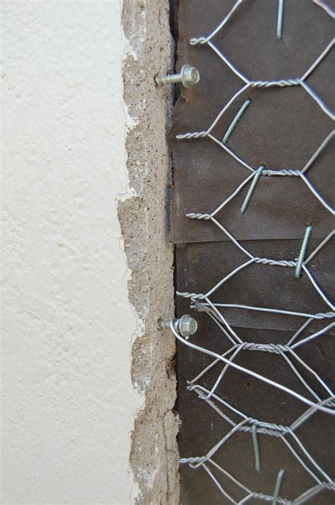 poured cement wall repair and stucco home improvement repair how to seam new stucco to old stucco when