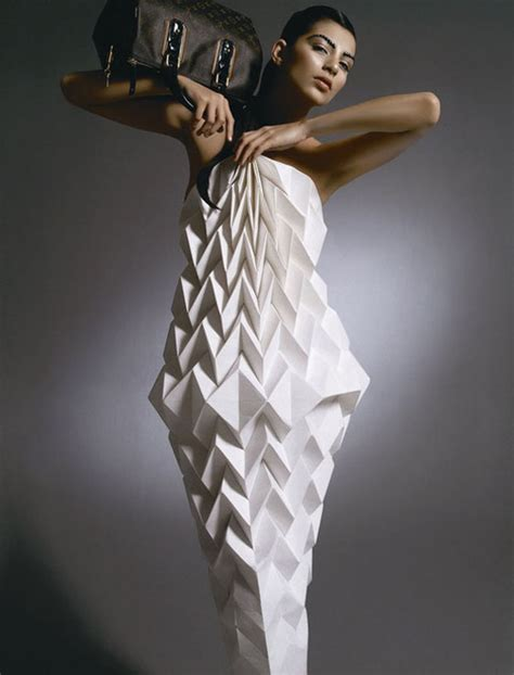 Origami In Fashion - folded fashion