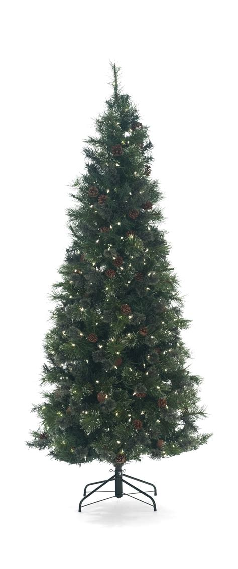 pre lit trees with led lights oregon pine 7 5 pre lit artificial tree with