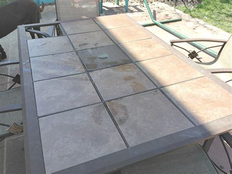 Ceramic Tile Patio Table Wood Tile Topped Diy Patio Table Reinvented