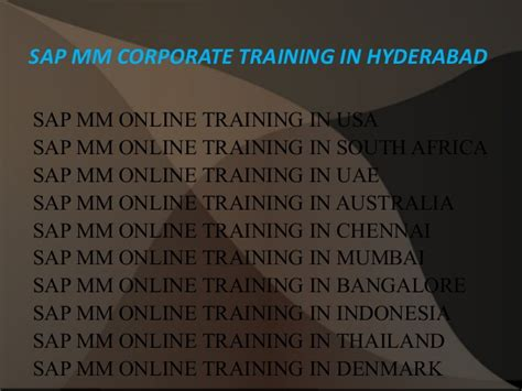 tutorial sap mm sap mm corporate training in hyderabad