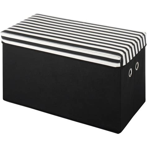 striped storage ottoman organize it home office garage laundry bath