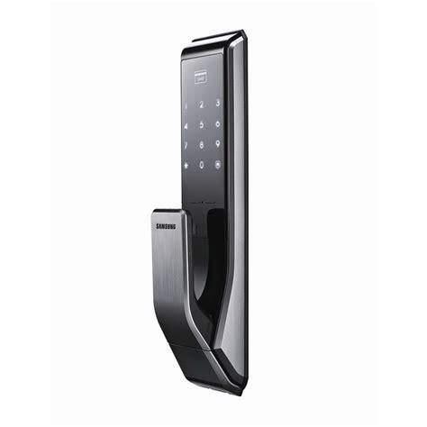 Rfid Door by Samsung Smart Push Pull Digital Door Lock Rfid Reader Bunnings Warehouse