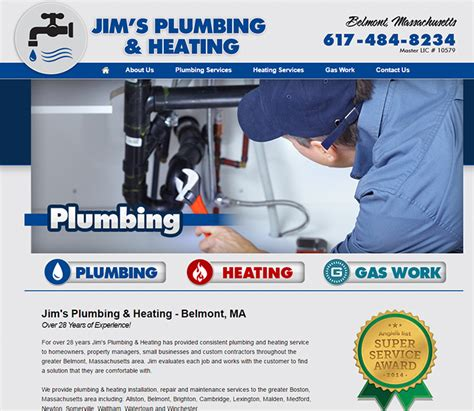 A J S Plumbing Heating by 100 Plumbing Websites For Design Inspiration