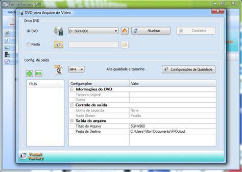 format factory portable em portugues format factory 1 70 pplware