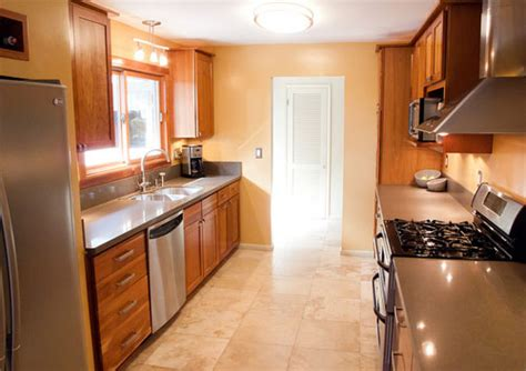 kitchen layout ideas galley how galley kitchen design lets you save space decorating