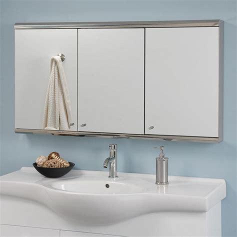 Cosmopolitan Stainless Steel Tri View Medicine Cabinet