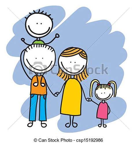 clipart famiglia disegno famiglia famiglia sopra illustrazione vettore