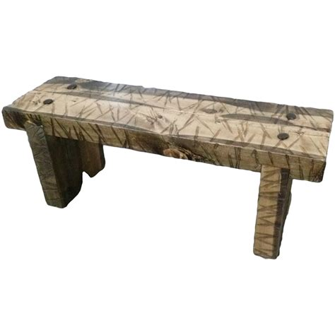 recycled wood bench wasatch reclaimed wood riverwoods bench