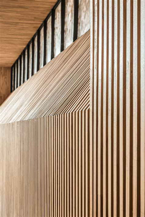 Timber Ceiling Battens by Sakraler Blickwinkel Kapelle Santa Detail Magazin