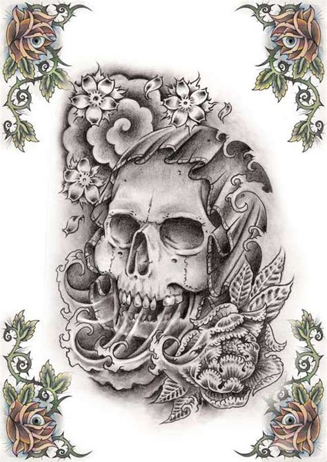 skull tattoos grim reaper tattoos deer sugar bull
