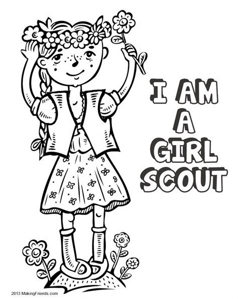 girl scouts coloring pages girl scout law coloring book print all the pages to