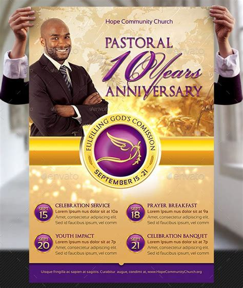 Anniversary Poster Template by Clergy Anniversary Flyer And Poster Template Graphicmule