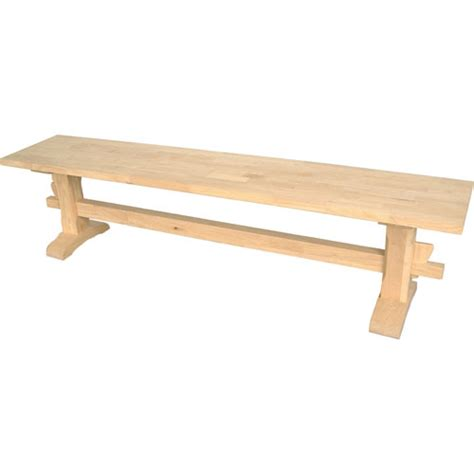 Unfinished Wooden Storage Bench dining unfinished wood trestle bench international concepts benches accent storage bench