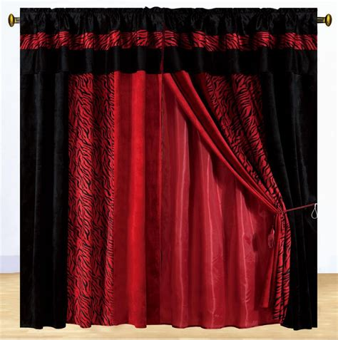 curtains red and black new luxury safarina drapes red black zebra animal valance