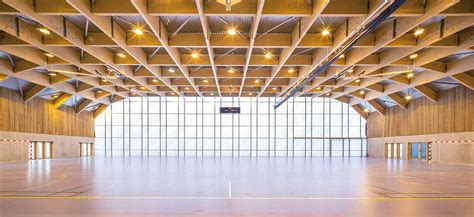 center of woodwork stunning new wooden sports center in is