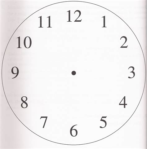 printable clock face no numbers best photos of big numbers analog clock face free
