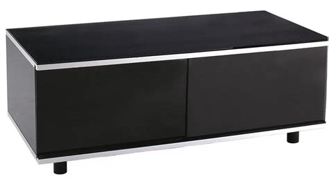 Black Tv Cabinet With Glass Doors Mda Image Av Black Tv Cabinet With Remote Friendly Glass Sliding Doors