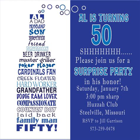 free templates for awesome 50th birthday cards awesome free template 50th birthday invitation
