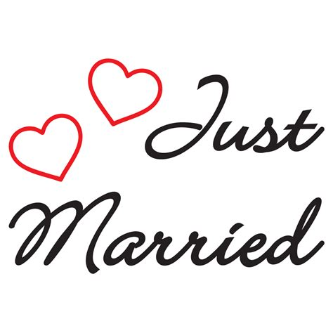 Aufkleber Just Married by Just Married Decal Vinyl Sticker Sticker Family