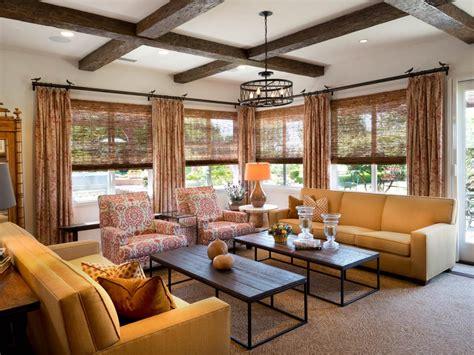 wood beams in living room photos hgtv