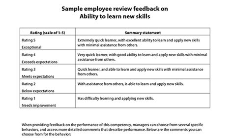 associate comments on performance review sle employee reviews world of exles