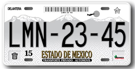 placas estado de mexico m 233 xico
