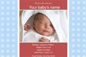 birth announcement free template free photo templates baby birth announcement 2