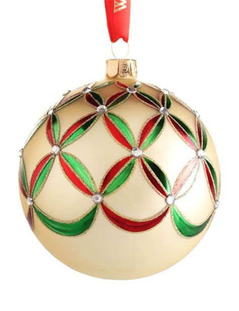 waterford heirloom holiday wedge ball ornament