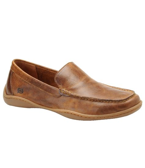 born loafers born harmon casual slip on loafers in brown for lyst