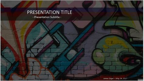 Graffiti Templates by Powerpoint Templates Free Graffiti Images Powerpoint