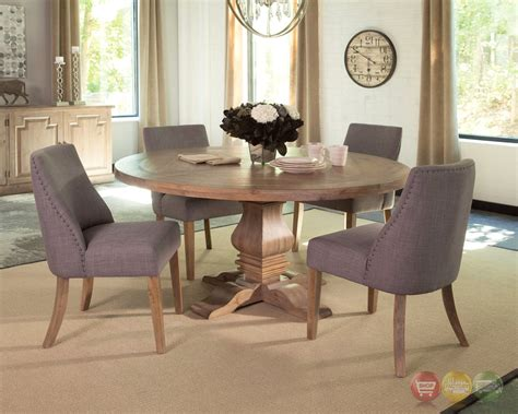 florence pine round dining table donny osmond home dining florence solid mahogany and pine 6pc round grey dining set