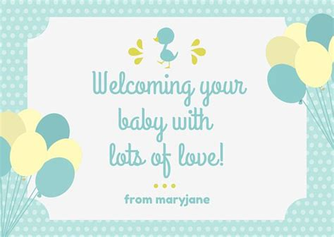 baby shower place cards template customize 175 baby shower card templates canva