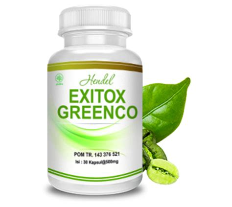 Exitox Green Bean Coffee Hendel exitox green coffee bean hendel kapsul pelangsing