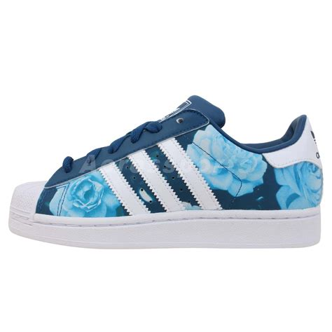 adidas floral shoes adidas originals superstar 2 w blue floral womens