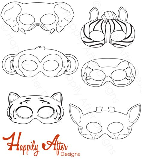 printable animal eye mask template snow white and the seven dwarfs printable coloring masks