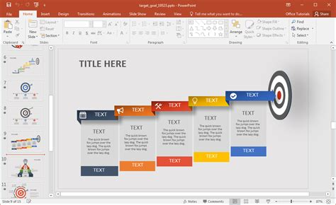 how to create powerpoint templates animated target goal powerpoint template