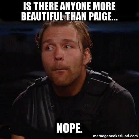 Paige Meme - dean ambrose and pagie wwe dean ambrose and paige wwe