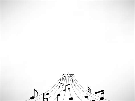Music Notes Backgrounds Black Entertainment Grey Music White Templates Free Ppt Musical Powerpoint Templates