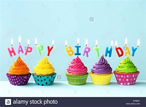 birthday cupcake images happy birthday cupcakes stock photo 78309925 alamy