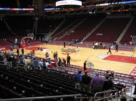 Best Seats At Toyota Center Toyota Center Section 118 Houston Rockets