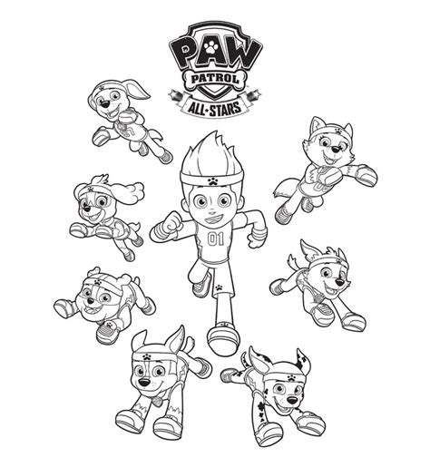 coloring paw patrol paw patrol all coloring page coloring pages paw