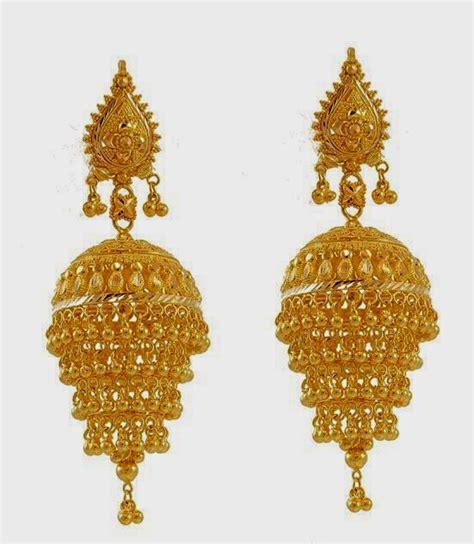 Jhumka Design Images | beautiful traditional south indian gold jhumka designs