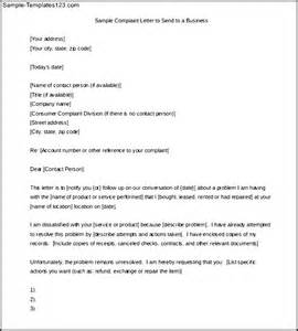 Business Letter Format Complaint example of complaint letter to business customer complaint letter