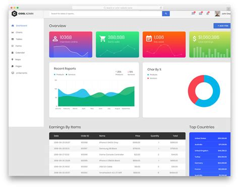 20 Free Simple Bootstrap Admin Templates For Content Rich Web Applications Bootstrap Tab Template