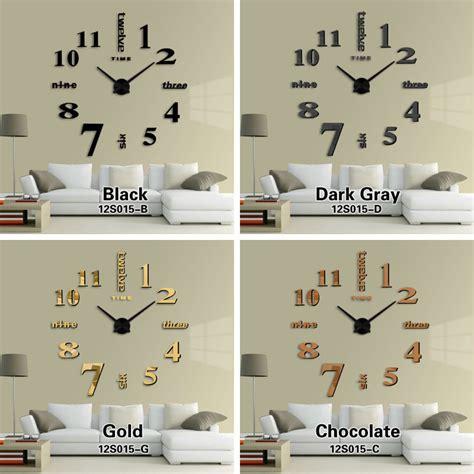 Jam Dinding Big Diy Wall Clock jam dinding diy 80 130cm diameter elet00659 black jakartanotebook