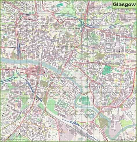 glasgow mapping the city large detailed map of glasgow