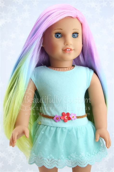 porcelain doll wigs wigs for dolls colorful cheap wigs