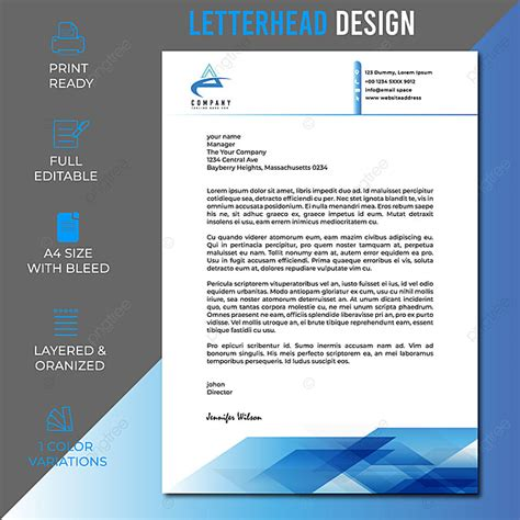 business letterhead design clean letterhead template