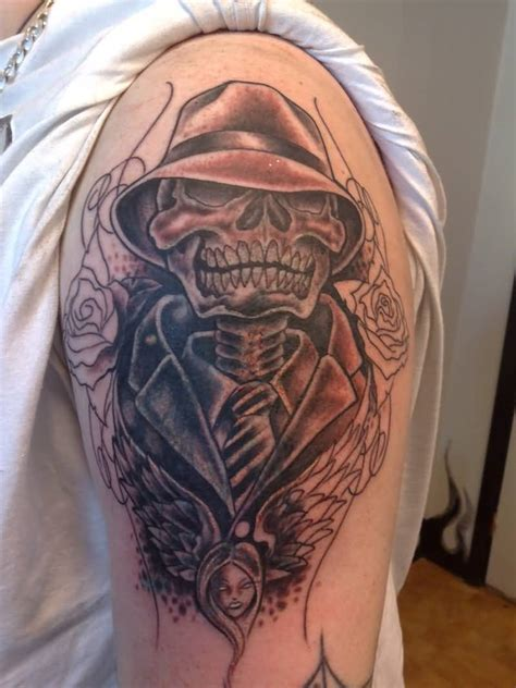 gangster skull tattoos gangster ideas and gangster designs page 16